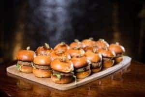 Red wine and wagyu beef sliders